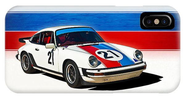 White Porsche 911 IPhone Case