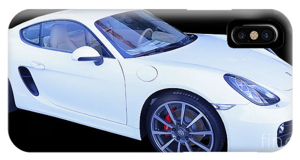White Porsche Cayman S IPhone Case