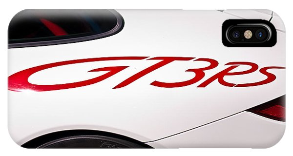 White Porsche Gt3rs - Rear Quarter IPhone Case