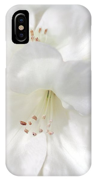 White Rhododendron Flowers IPhone Case