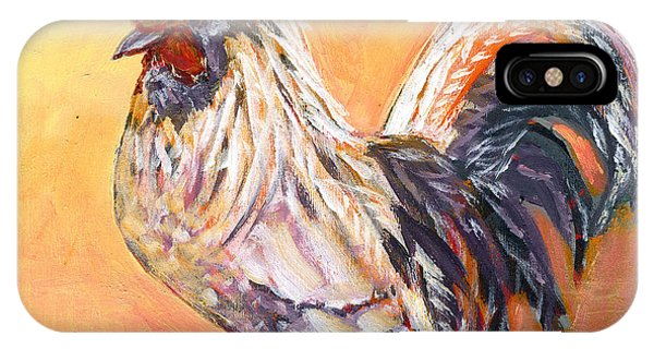 Chicken iPhone Case - White Rooster by Jennifer Lommers