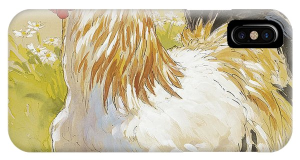 Rooster iPhone Case - White Rooster by Tracie Thompson