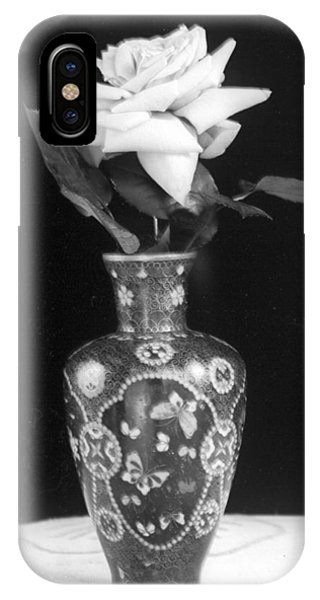White Rose Antique Vase IPhone Case
