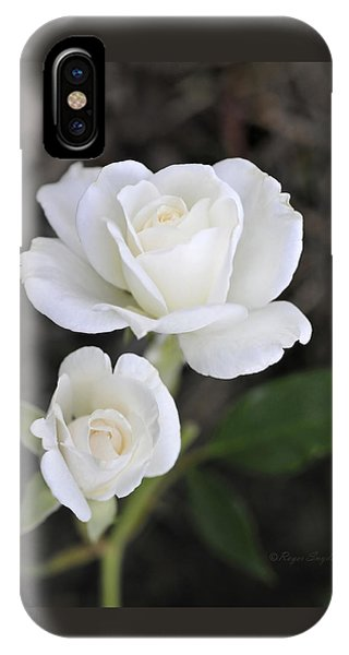 White Rose Duo IPhone Case