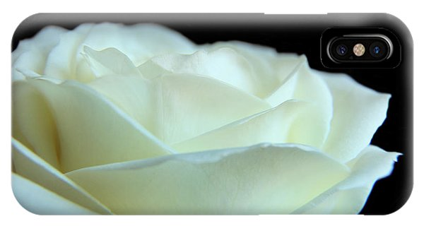 White Avalanche Rose IPhone Case