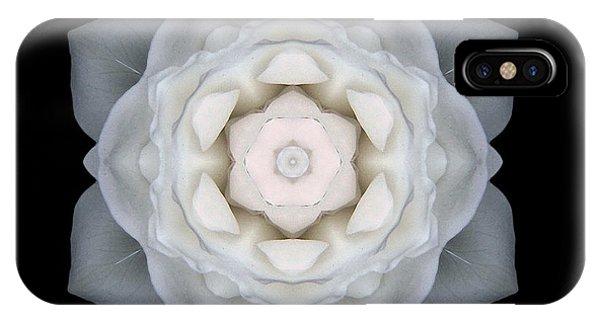 White Rose I Flower Mandala IPhone Case