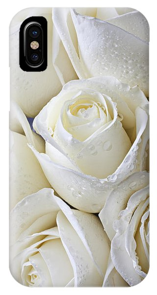 Horticulture iPhone Case - White Roses by Garry Gay
