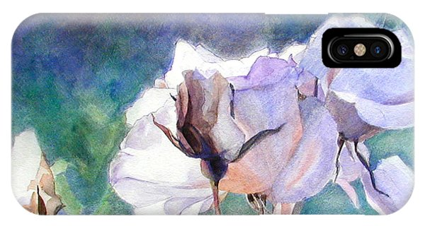 White Roses In The Shade IPhone Case