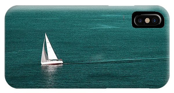 White Sailboat IPhone Case