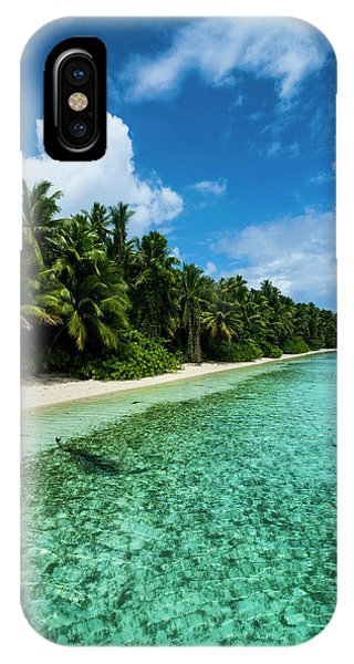 Micronesia iPhone Case - White Sand Beach In Turquoise Water by Michael Runkel