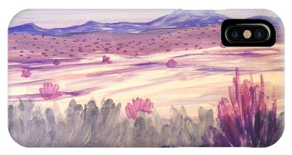 White Sand Purple Hills IPhone Case