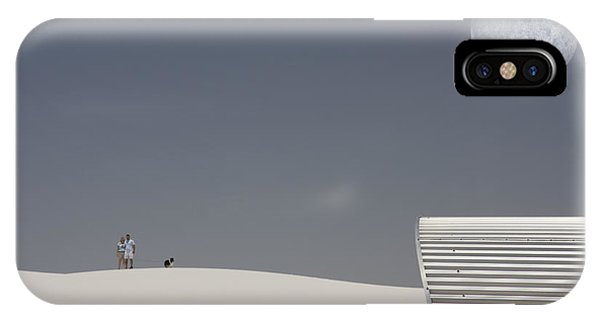 White Sands Moonrise IPhone Case