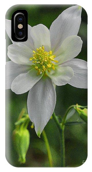 IPhone Case featuring the digital art White Star Flower by Mae Wertz