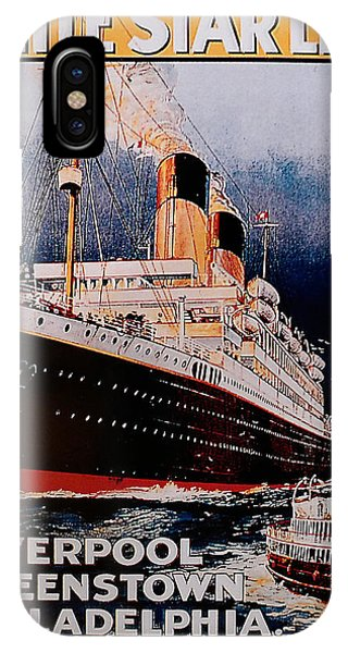 IPhone Case featuring the photograph White Star Line Poster 1 by Richard Reeve