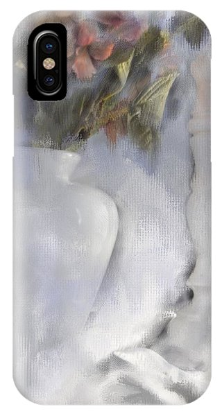 White Still Life Vase And Candlestick IPhone Case