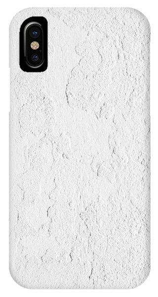 Cement iPhone Case - White Stucco by Carlos Caetano