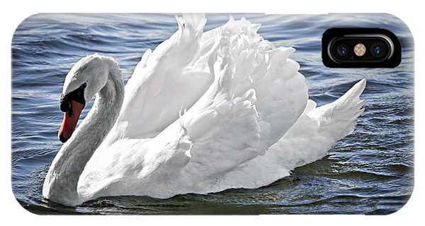 White Swan On Water IPhone Case