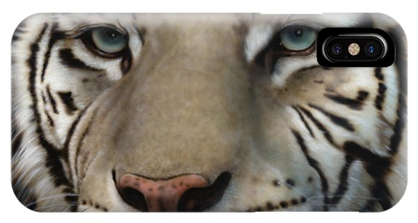 White Tiger - Up Close And Personal IPhone Case