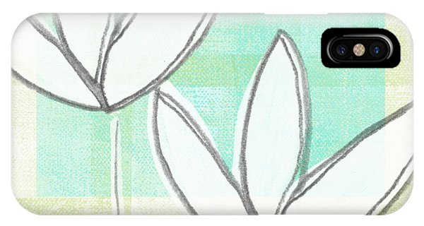 Tulip iPhone X / XS Case - White Tulips by Linda Woods