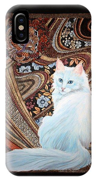 White Turkish Angora IPhone Case