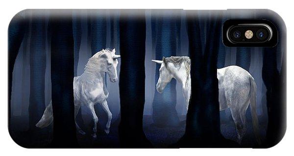 White Unicorns IPhone Case