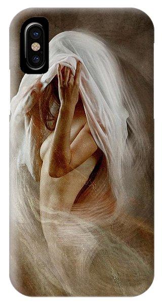 Motion Blur iPhone Case - White Veil by Olga Mest