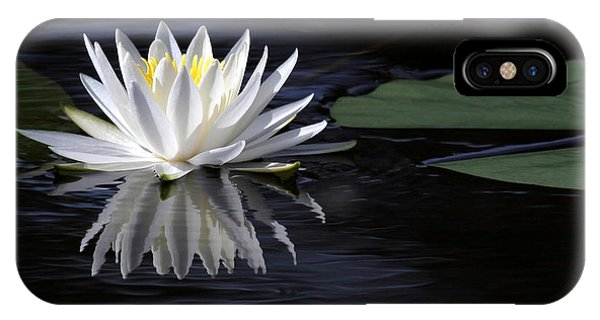 White Water Lily Left IPhone Case