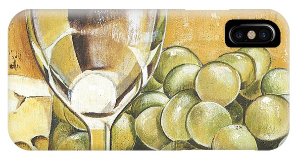 Green Grape iPhone Case - White Wine And Cheese by Debbie DeWitt
