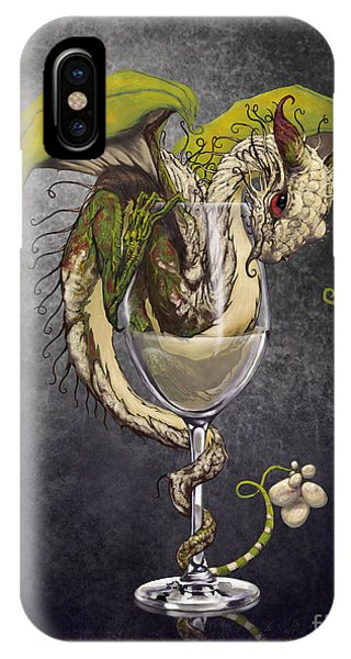 Cocktail iPhone Case - White Wine Dragon by Stanley Morrison