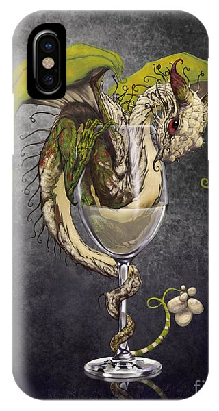 Dragon iPhone Case - White Wine Dragon by Stanley Morrison