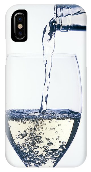 Wine Pouring iPhone Case - White Wine Pouring by Garry Gay