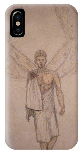 White Wolf Character 1 Phone Case by Steve Spagnola