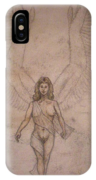 White Wolf Character 4a Phone Case by Steve Spagnola