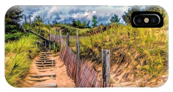 Whitefish Dunes State Park Stairs IPhone Case