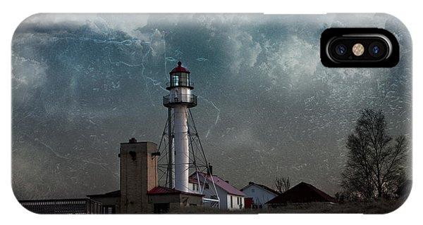 Whitefish Point Lighthouse Lake Superior IPhone Case