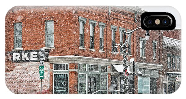 Whitehouse Ohio In Snow 7032 IPhone Case