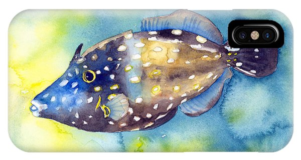 Whitespot Filefish IPhone Case