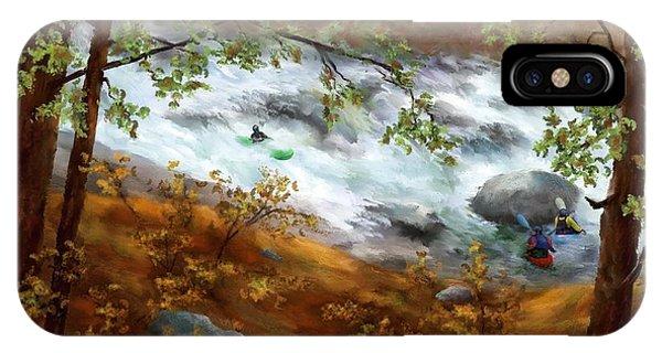Whitewater Kayaking Phone Case by Judy Filarecki