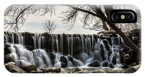 Whitnall Waterfall In Spring IPhone Case