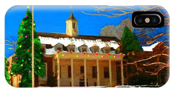 Whittle Hall At Christmas IPhone Case