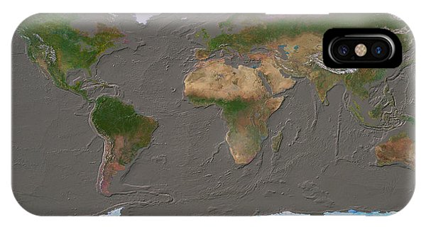 Sea Floor iPhone Case - Whole Earth & Seabed by Copyright Tom Van Sant/geosphere Project, Santa Monica/science Photo Library