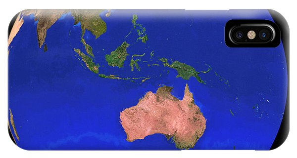 Whole Earth Noaa Satellite Mosaic (1km Resolution) Phone Case by Copyright 1995, Worldsat International And J. Knighton/science Photo Library