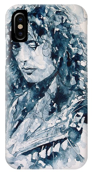 Musicians iPhone X Case - Whole Lotta Love Jimmy Page by Paul Lovering