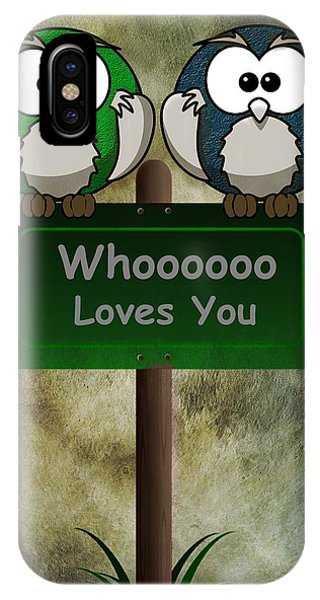Whoooo Loves You  IPhone Case