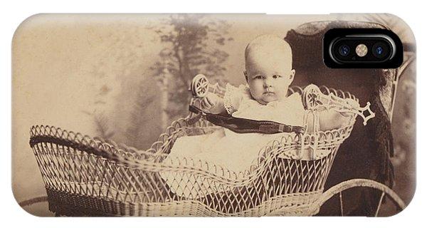 Wicker Baby Pram IPhone Case