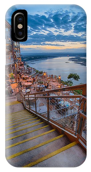 Wide Angle View Of The Oasis And Lake Travis - Austin Texas IPhone Case
