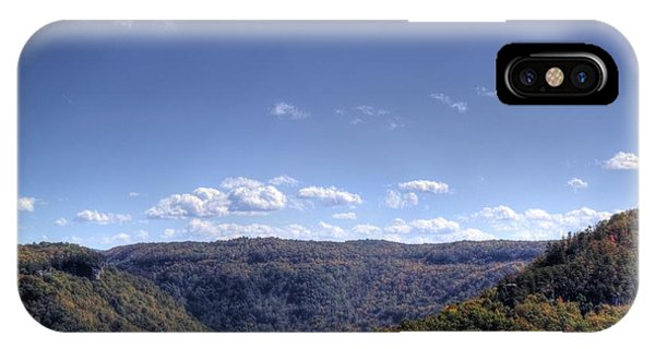 Wide Shot Of Tree Covered Hills IPhone Case
