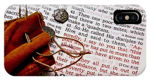 Widow's Mites And Scripture IPhone Case