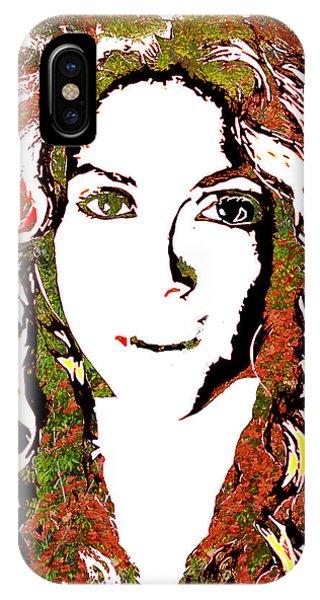 Shakira iPhone Case - Wild Art Shakira by Dalon Ryan