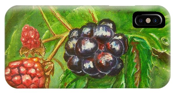 Wild Blackberries IPhone Case